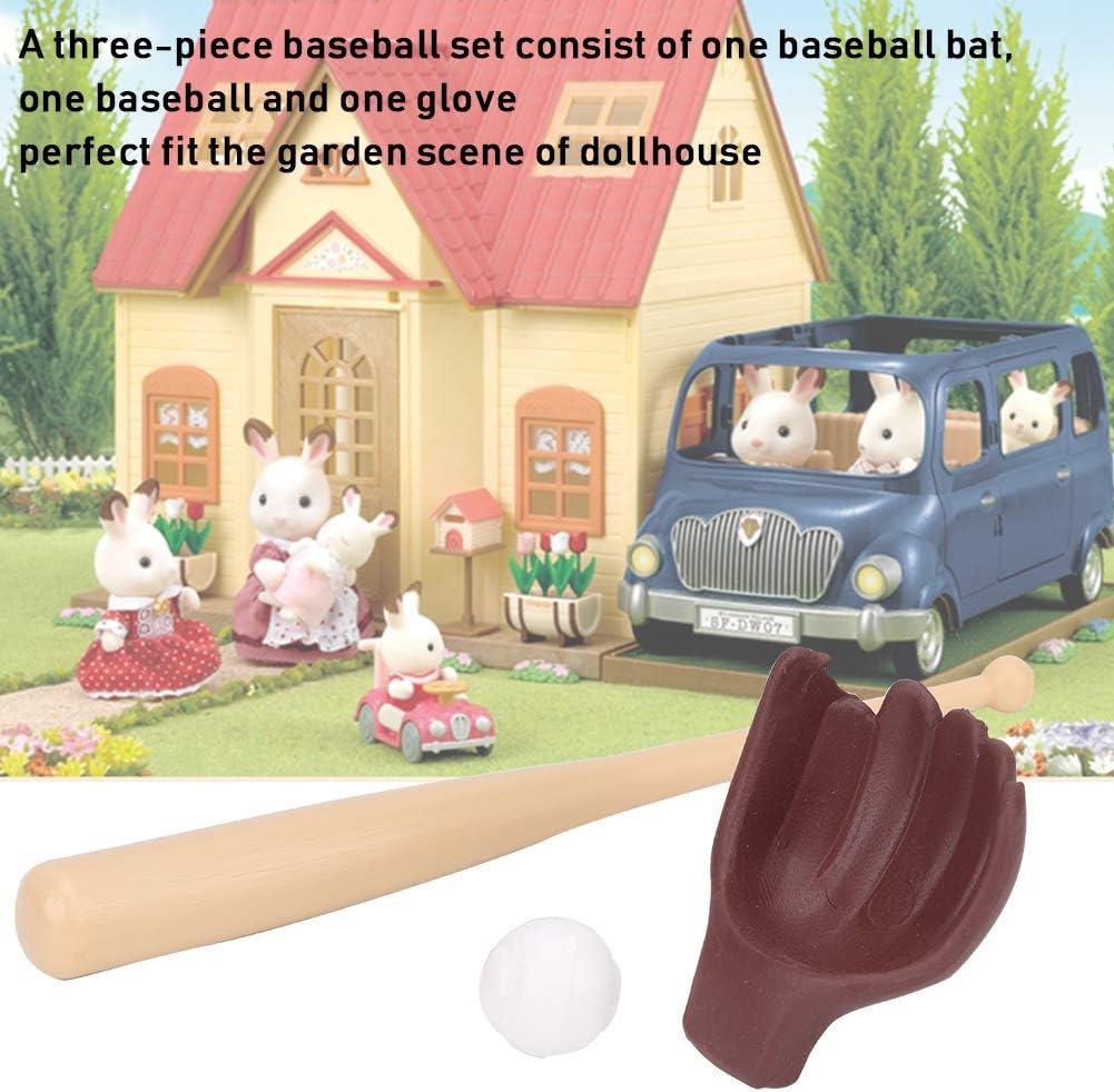 1:12 Simulazione Set da Baseball Modello per Casa delle Bambole Mazza da Baseball Baseball Guanto Dollhouse Giocattolo Scena di Vita Decorazione Regalo per 3 4 5 6 7 8 Anni Bambini Ragazzi Ragazze