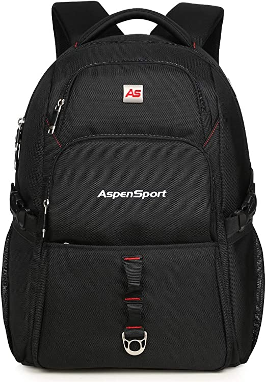 "ASPENSPORT Laptop Backpack for Men School Bookbag Fit 15.6-17""Water Repellent"