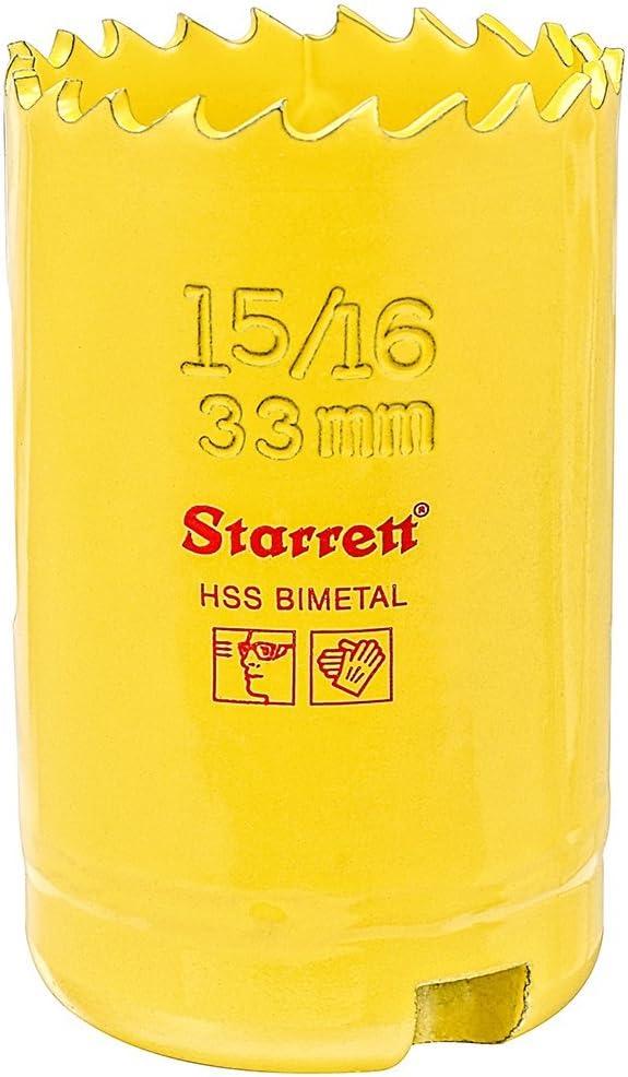 """BI-METAL CONSTANT PITCH HOLE SAW STARRETT 33 MM 1-5//16/"""" SH0156-61013"""