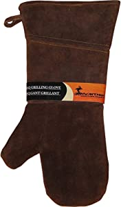 Montana Grilling Gear Suede and Leather Grill Glove - Oven Mitt for Use Outdoor or Indoor Cooking - 10.375-Inch - LGG-L16