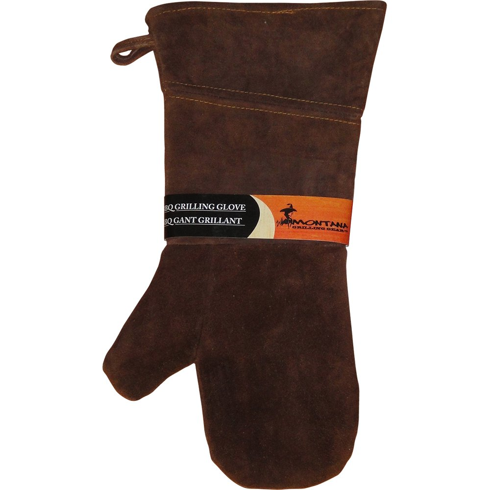 Montana Grilling Gear Suede and Leather Grill Glove - Oven Mitt for Use Outdoor or Indoor Cooking - 10.375-Inch - LGG-L16 Villa Olympic Inc.