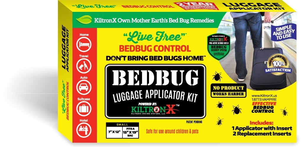 free shipping Bedbug Luggage Protectors Pesticide Alternative Applicator Kit.