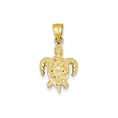 Amazon 14k yellow gold turtle pendant jewelry 14k yellow gold turtle pendant aloadofball Choice Image