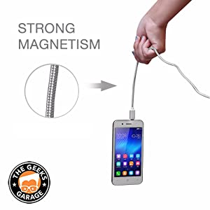 MAGMAX Magnetic Phone Charger Micro USB Adapter Fast Quick Charging & Data Transfer Cable