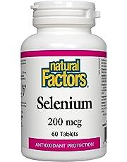 Natural Factors Selenium 200 mcg, 60 Tablets