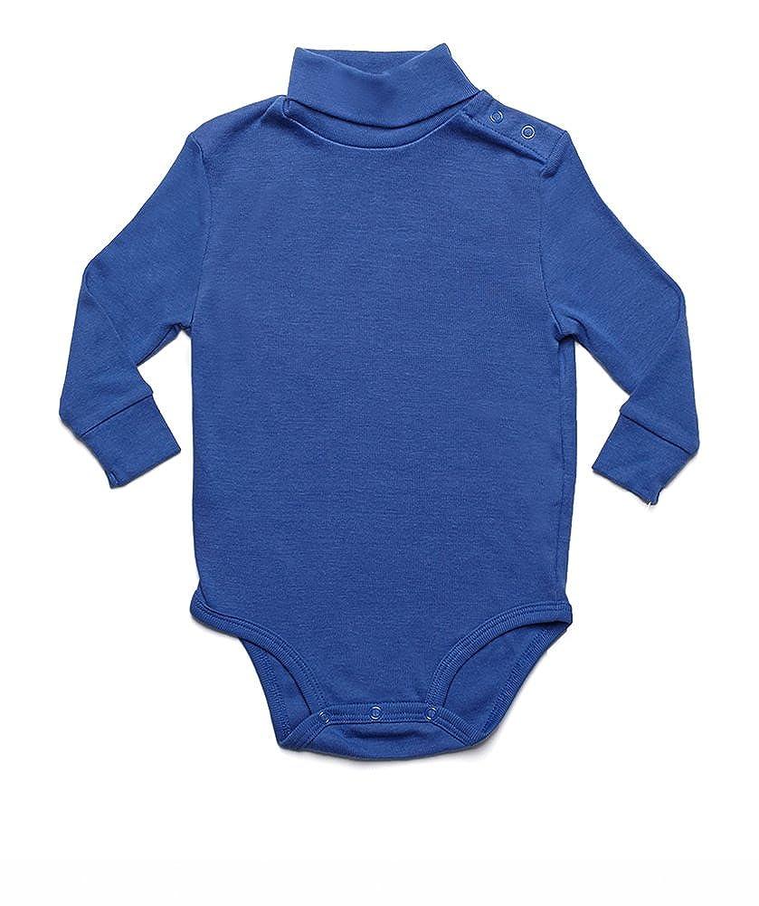 Leveret Long Sleeve Baby Boys Girls Bodysuit Turtleneck 100/% Cotton Size 6 Months-2 Toddler