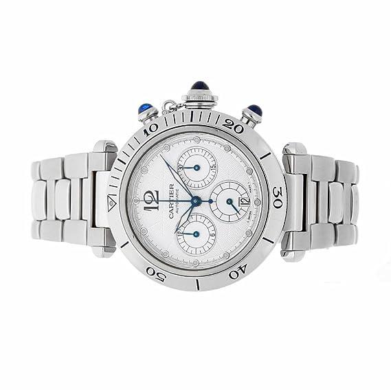 Cartier Pasha Automatic-Self-Wind Mens Reloj 2113 (Certificado) de Segunda Mano: Cartier: Amazon.es: Relojes