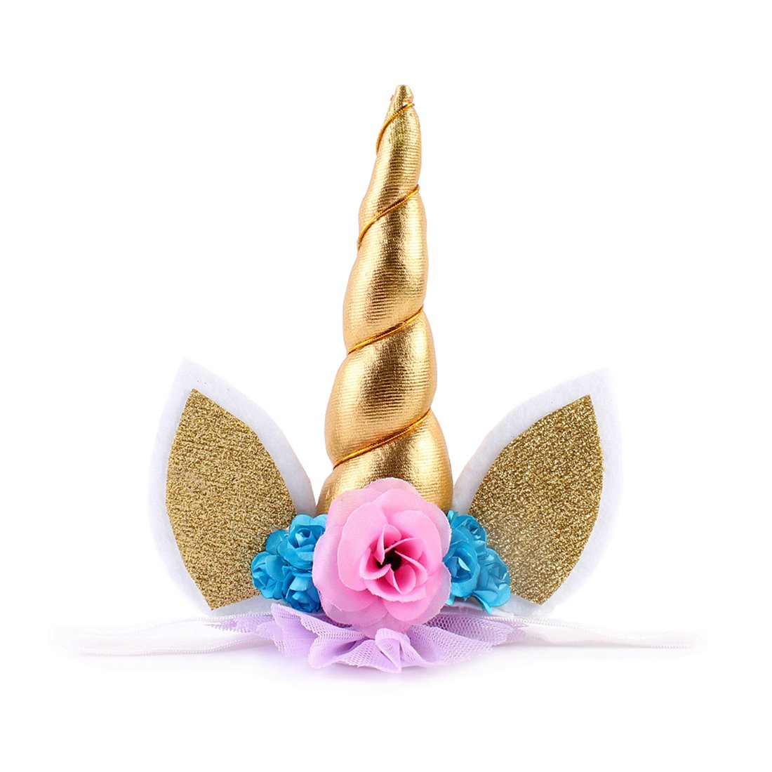 Golden JMITHA Haarreif Einhorn Elastisch Einhorn Blumenm/ädchen Haarschmuck Verkleiden f/ür Hochzeit Party Karneval Head Accessoires