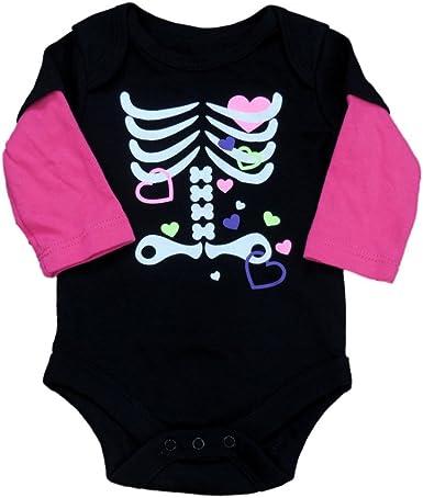 Flower Skeleton Baby Infant Boys Girls Fun Print Bodysuit