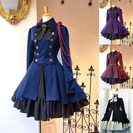 ZHLL Vestido De Mujer-Uniforme De Mucama Gótico Francés Japonés ...