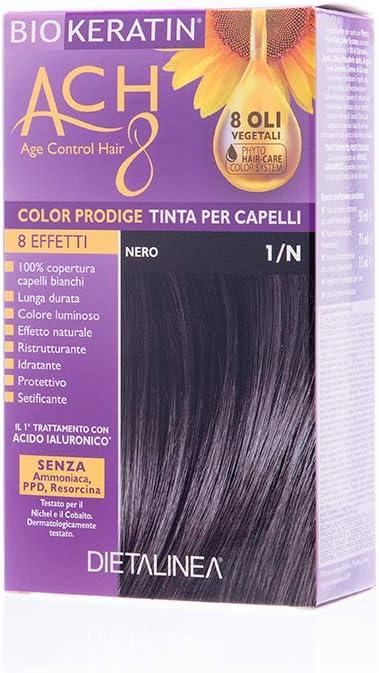 Biokeratin ACH8 Color Prodige - Tinte para el cabello-1/N negro 1 unidad