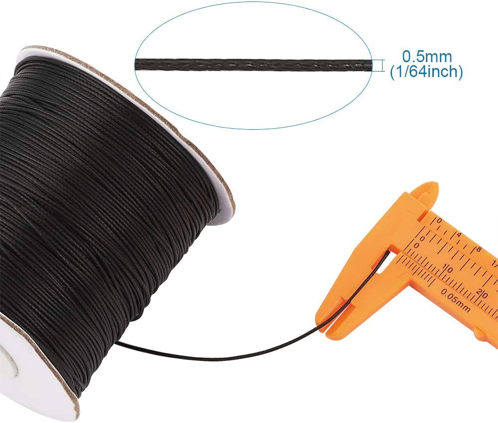 85yds//Roll Round Waxed Polyester Cords Beading Thread Macrame Braided String 1mm