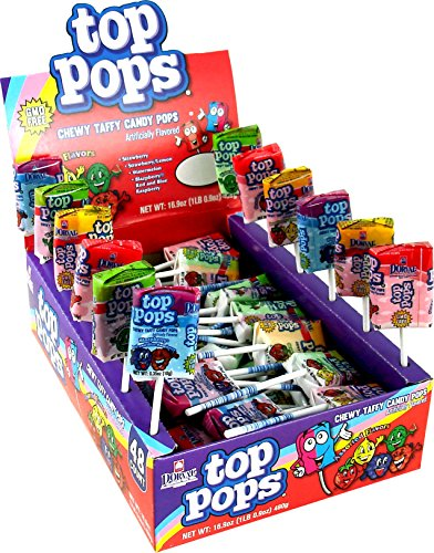 Top Pops Chewy Taffy Pops, Assorted Flavors, 16.9 Ounce ()