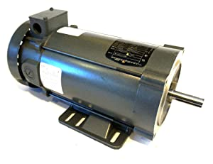 BALDOR CDP3455 56C Frame TEFC DC Motor, 1 hp, 1750 RPM, 3435P, F1, 180V Armature Voltage