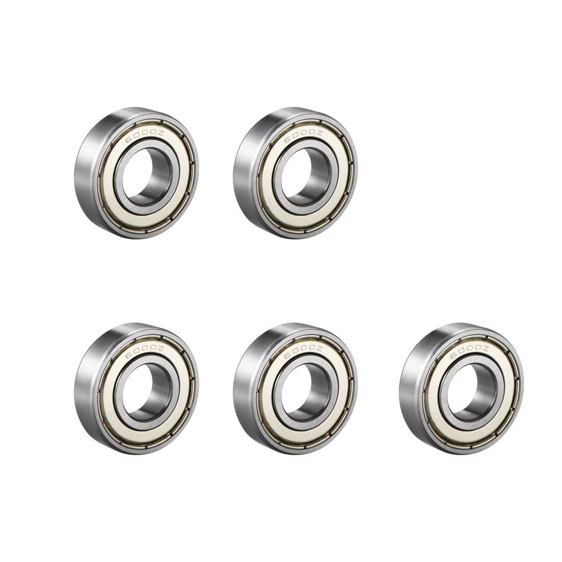 sourcing map 604Z Deep Groove Ball Bearing Single Shield 60014, 4mm x 12mm x 4mm Chrome Steel Bearings (Pack of 10)