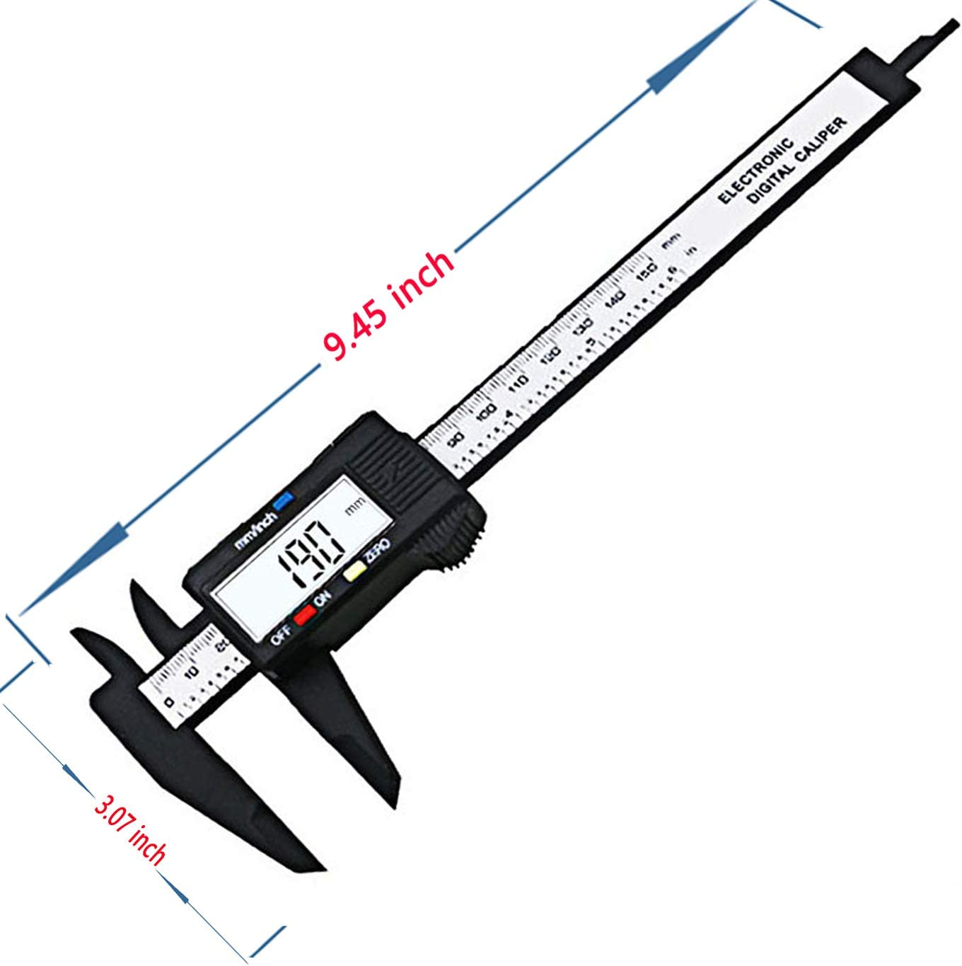 0-6 inches Vernier Caliper with Large LCD Screen Perfect for Household//DIY Measurment etc Amuoc Digital Caliper Inch and Millimeter Conversion Measuring Tool off Feature Auto