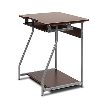 furinno fnbl 22001 besi office computer desk dark wood grain besi office computer desk