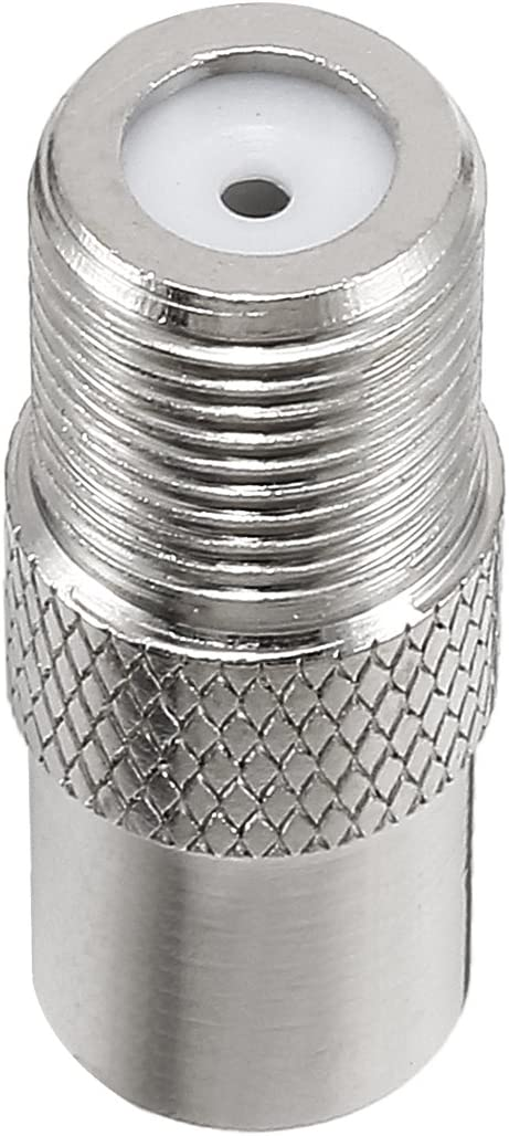 uxcell 20 Pcs Silver Tone BSP F Female To PAL Male Jack RF Coaxial Adapter Connector
