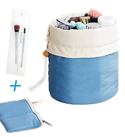 6d1d5c3a1fd3 Amazon.com   Portable Travel Toiletry Cosmetic Bag - Mr.Pro Waterproof Travel  Kit Organizer Bathroom Storage Makeup Drawstring Bag Carry On Case  (Cylinder ...