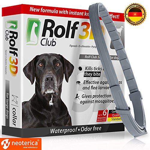 FLEA Collar for Dogs – Flea and Tick Prevention for Dogs – Dog Flea and Tick Control for 6 Months – SAFE Tick Repellent – WATERPROOF Tick Treatment