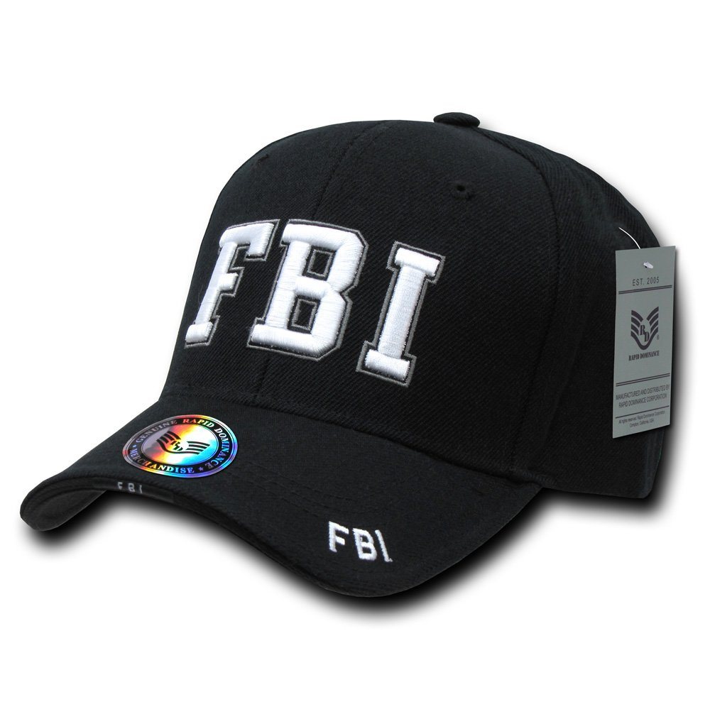 Rapiddominance FBI DeLuxe Law Enforcement Cap, Black Rapid Dominance JW-FBI