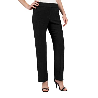 184d3d09a1b ADRIENNE VITTADINI Women s High Waist Dress Pants Casual Comfortable  Stretch Fit Material Formal Classic Career Suit Trouser at Amazon Women s  Clothing ...