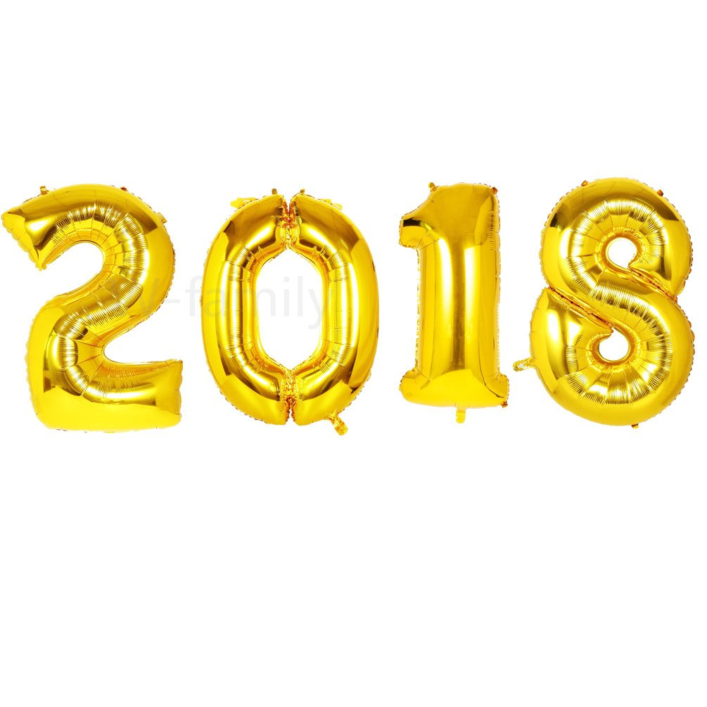 Gold mylar 2018 big baloons 40 inch 2018 graduation for Decoration 2018