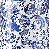 "Oriental Furniture 24"" Floral Blue & White"