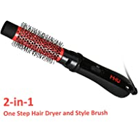 MHU Hair Dryer Brush | One Step ionic hair dryer & hot air styling brush 750W | 32mm Ceramic Hairdryer Comb