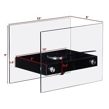 Chimenea de mesa portátil ventless estufa Bio Etanol, color negro: Amazon.es: Hogar