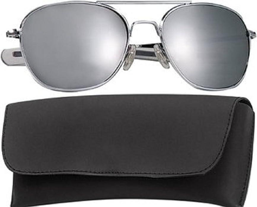 Amazon.com  10604 G.I. Type Pilot s Aviator Sunglasses 52MM  (Chrome Mirror)  Clothing 75be9ff1e77