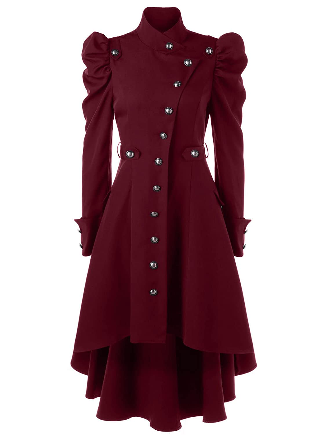 Beebeauty Gothic Vintage Womens Steampunk Victorian Long Trench Coat Jacket