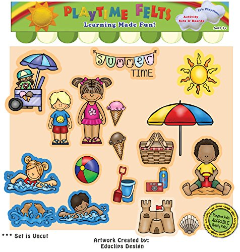 Playtime Felts Summer Time Fun Story Set for Flannel Boards