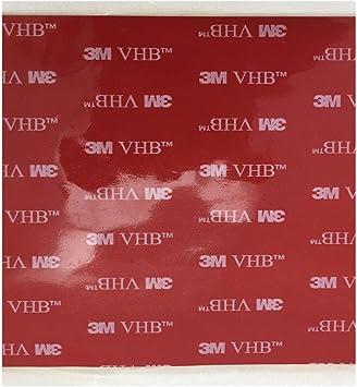 3M VHB 25mm X 3m Negro Cinta de Doble Cara Espuma de acrílico de alta calidad Heavy Duty UK