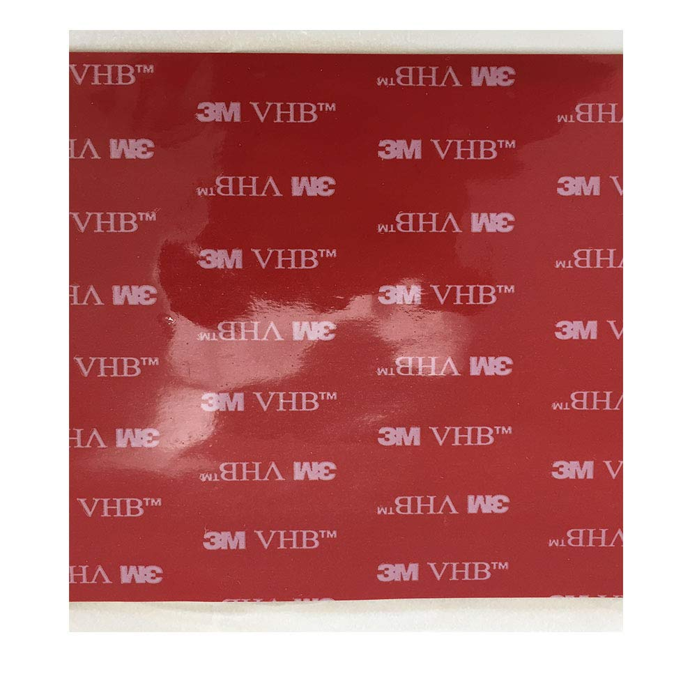 3M VHB 5952 Heavy Duty Ruban de montage noir mousse acrylique Double Sided Tape adhésif | Taille: 10 cm x 10 cm | Epaisseur: 1,1 mm | Couleur: Noir / Grey | Très haut Bond | au lieu de rivets, vis et autres fixation mécanique | &Eacute