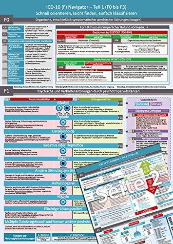 ICD-10 (F) Navigator (2018) – Ideal zur Prüfungsvorbereitung für Heilpraktiker Psychotherapie (PSY) – Teil 1 (F0 bis F3)- Schnell orientieren, leicht finden, einfach klassifizieren