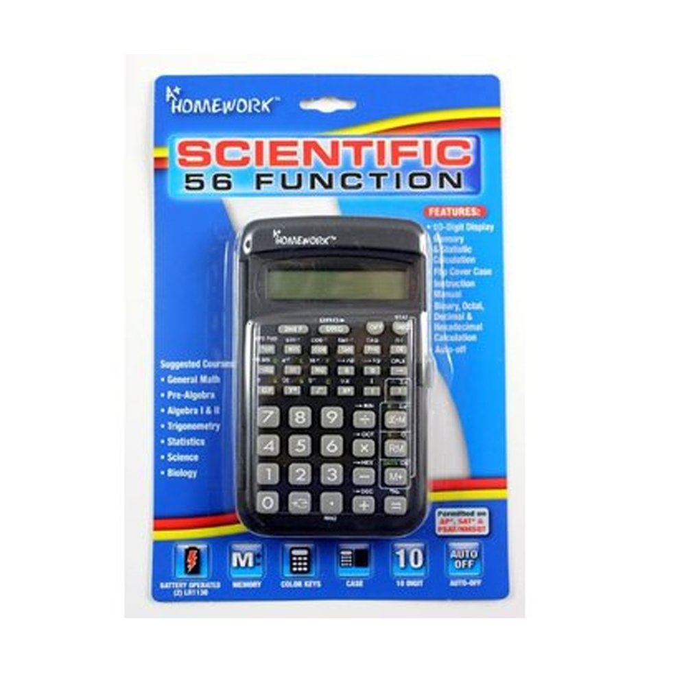Scientific Calculator - 56 Function - 10 Digit Display 48 pcs sku# 1858971MA