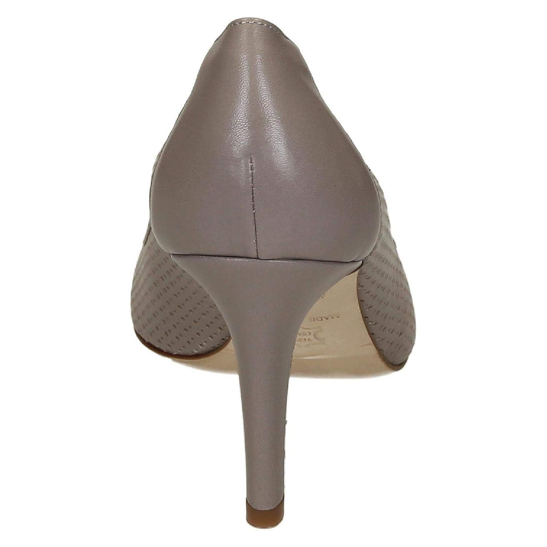 LEONARDO SHOES Womens 54008CONCHIGLIA Beige Leather Pumps