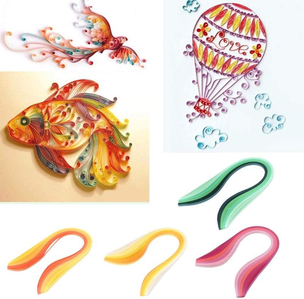 ExhilaraZ 100Pcs 5mm Gradient Color Paper Quilling Strips for DIY Handmade Craft Project On Sale