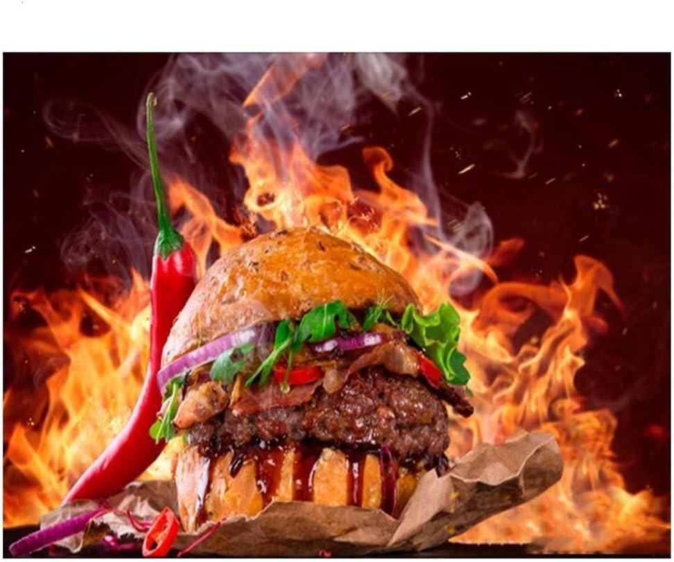 DIY 5D Diamond Painting Kit Spicy Burger Cuadrado Full Drill Completos Crystal Rhinestone Adultos Child Lienzo De Punto De Cruz Bordado Art Craft Para Decoración de la Pared Del Hogar Regalo 25x30cm