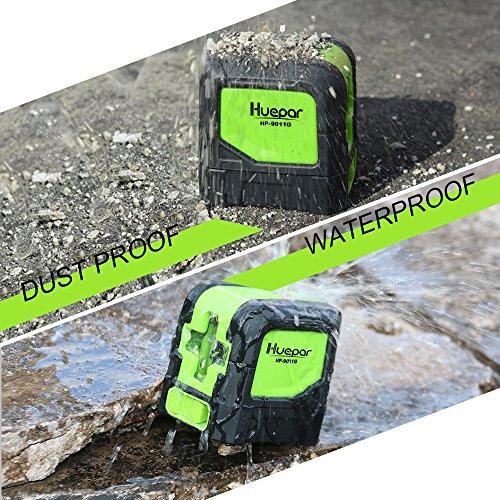 Huepar Green Laser Level DIY - Mute Cross Line Laser Self-Leveling 9011G 98 Ft Cross Green Beam Laser Horizontal and Vertical Lines, Bright Laser with Magnetic Pivoting Base by Huepar (Image #3)