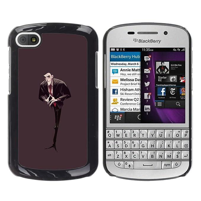 KIKI Tech/carcasa - hombre figura negra corbata Calvo vampiro ...