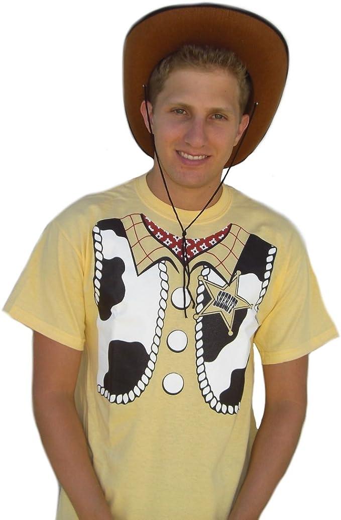 Sheriff Woody Disfraz de T-Camiseta de Manga Corta para Hombre Toy ...