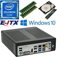 E-ITX ITX350 Asrock H270M-ITX-AC Intel Celeron G3930 (Kaby Lake) Mini-ITX System , 32GB Dual Channel DDR4, 120GB M.2 SSD, 2TB HDD, WiFi, Bluetooth, Window 10 Pro Installed & Configured by E-ITX