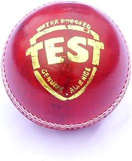 Palla da Cricket, in pelle, colore: rosso/di prova/Ikshvaku, Palla da Cricket