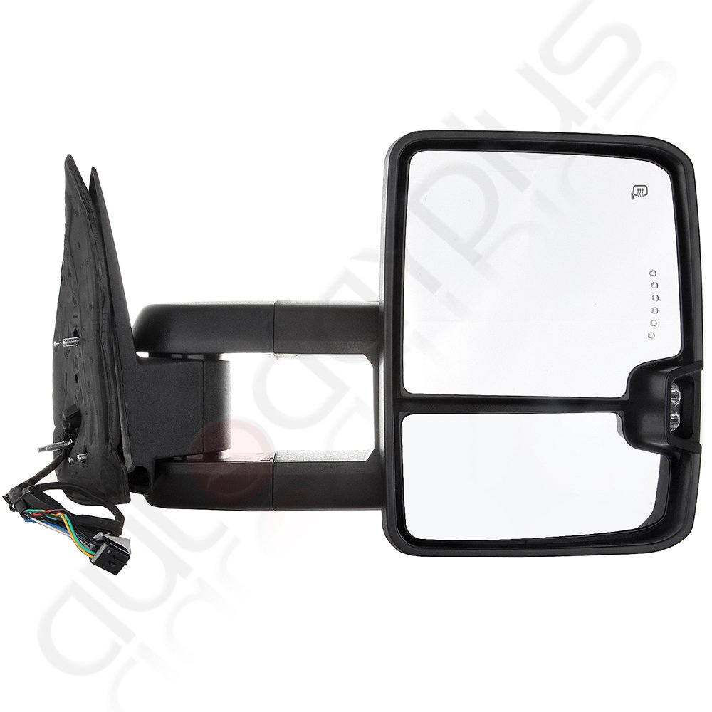 Scitoo Power Heated Chrome Towing Mirrors Led Clearance 2002 Suburban Mirror Control Switch Wiring Diagram Signal Light Fit 99 02 Silverado Sierra Side Pair Set Automotive