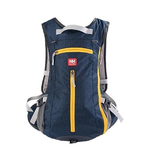 Naturehike 15L Waterproof Nylon Outdoor Sports Backpack Shoulder Belt Bag with Helmet-Mounted System, Dark Blue