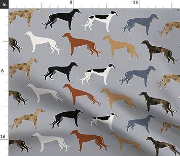 Tela de Tejido de los Galgos Los Galgos versión más grande - perros Greyhound abrigos tela de colores por PetFriendly impreso en por el patio por ...