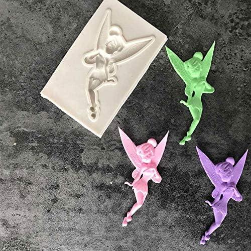 JWJY 小児花の妖精シリコンモールドGumpasteチョコレートクレイキャンディ用金型フォンダンケーキデコレーションツールDIY (Color : 01)