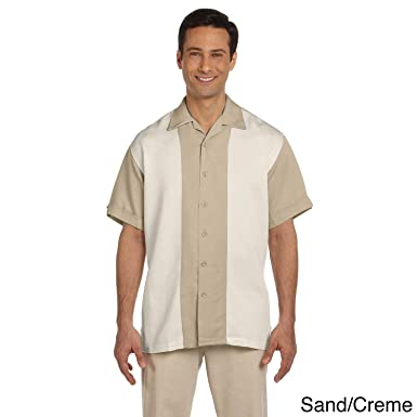 d37133c3a37 Image Unavailable. Image not available for. Color  Harriton Men s Two-tone Bahama  Cord Camp Shirt ...